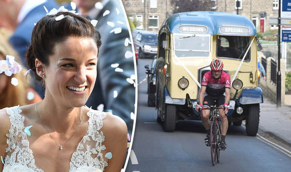 Olympic cyclist Lizzie Armitstead was late to church because of a bike