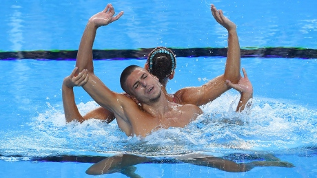 Italy wins mixed synchro swim gold, Canada 6th