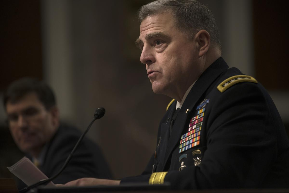 Trump picks Gen. Mark Milley as next top military adviser