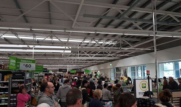 BREAKING: Asda in meltdown as EVERY card machine in UK supermarket fails
