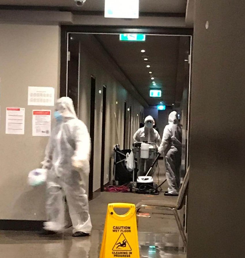 Guard tests COVID-19 positive at refugee detention hotel