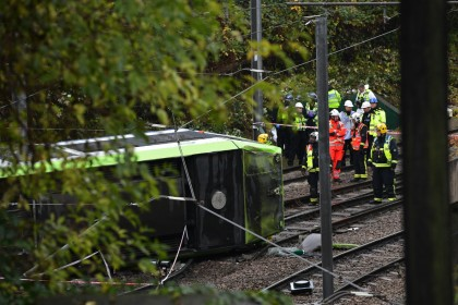 Five people dead and 50 injured after tram derails in Croydon