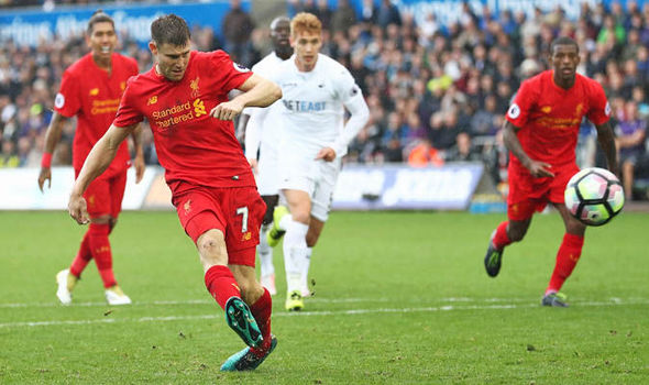 Swansea 1 - Liverpool 2: Milner and Firmino complete comeback, Lallana suffers injury woe