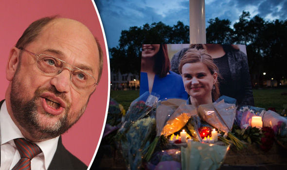 Outrage as EU bigwig Schulz says Jo Cox was murdered after 'nasty' referendum campaign