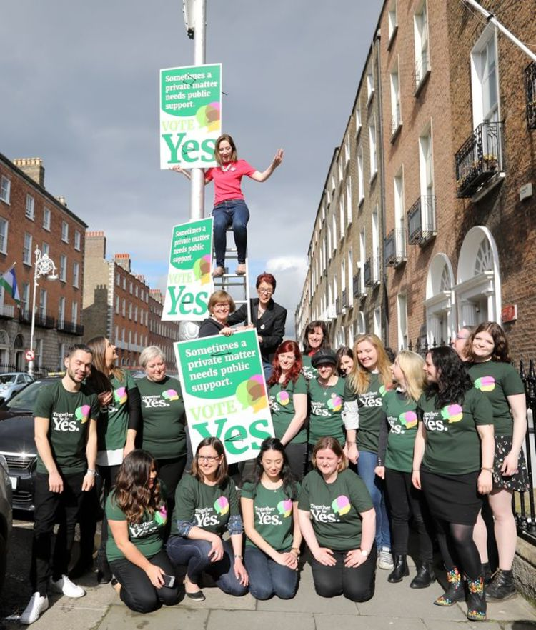 Together for Yes launch poster campaign for Eighth Amendment referendum