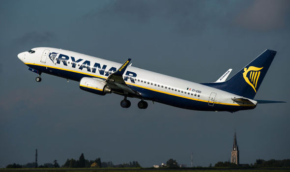Child hit by wine bottle as drunken fight breaks out on board Ryanair flight