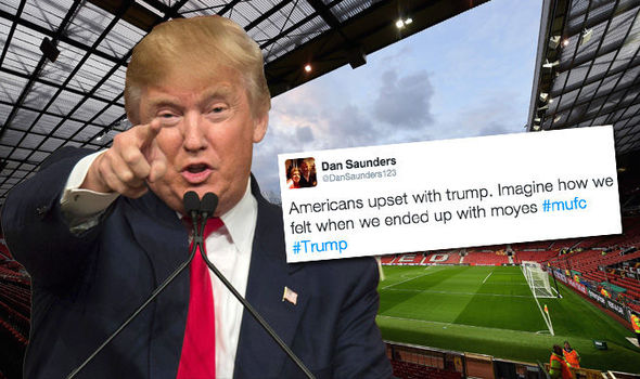 Man Utd fans compare Donald Trump election win to Sir Alex Ferguson leaving Old Trafford