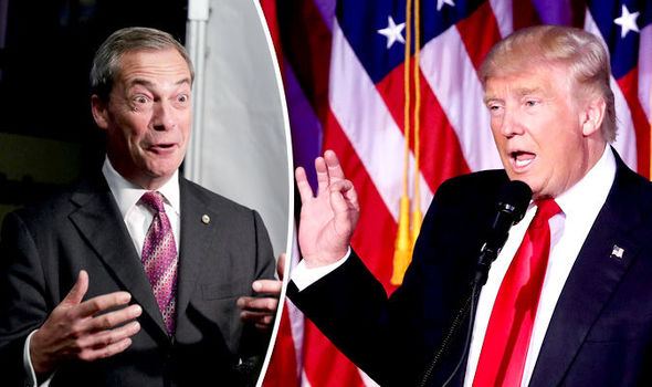 Trump's man in Brussels? Nigel Farage says he may get job as ambassador to BRING DOWN EU