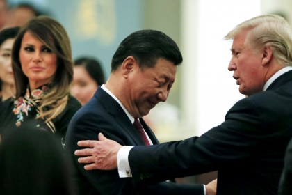 Trump warns China to treat Hong Kong 'humanely'