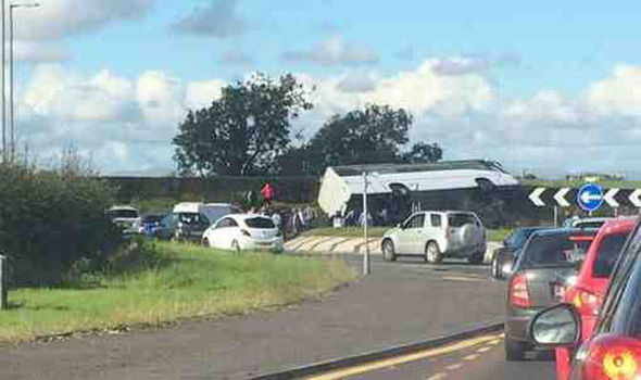 BREAKING: Coach carrying Glasgow Rangers fans crashes