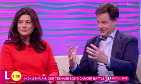 Nick Clegg: 'Telling my son he had cancer was toughest thing I have ever had to do'