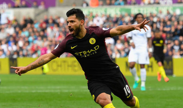 Swansea 1 - Manchester City 3: Aguero returns to help continue Guardiola's perfect start
