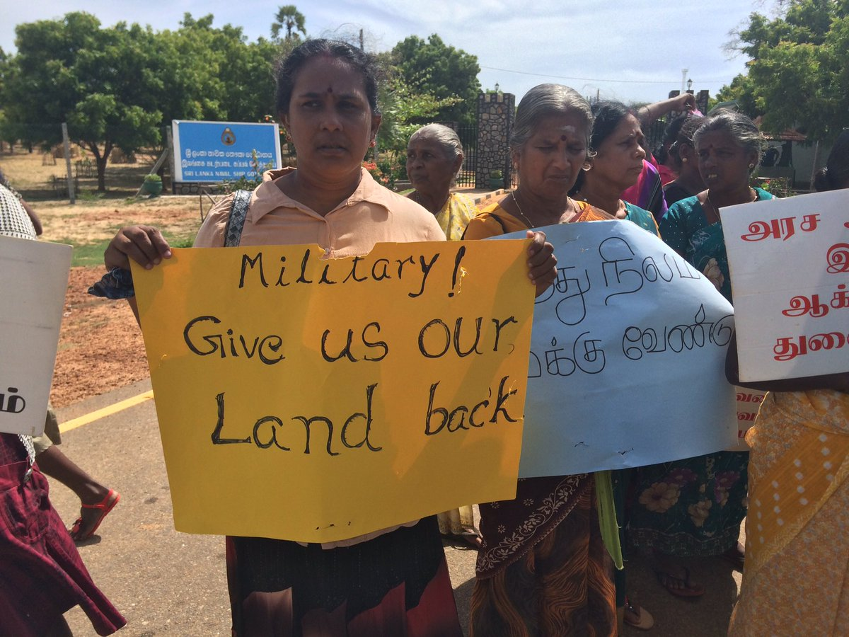 Sri Lanka: Tamils demand return of occupied land