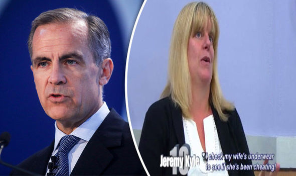 Former Bank of England chief's PA appears on Jeremy Kyle accused of cheating