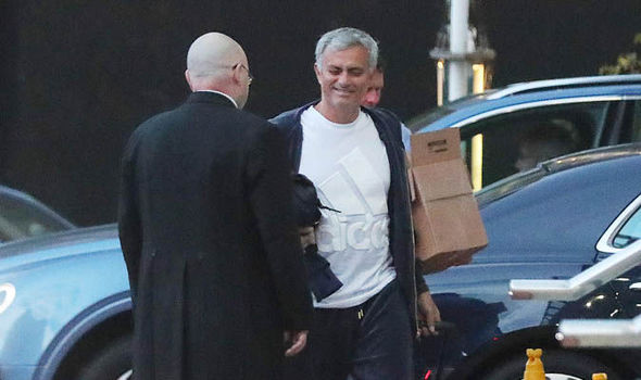 Spotted: Jose Mourinho returns to The Lowry after 12-hour day at Carrington