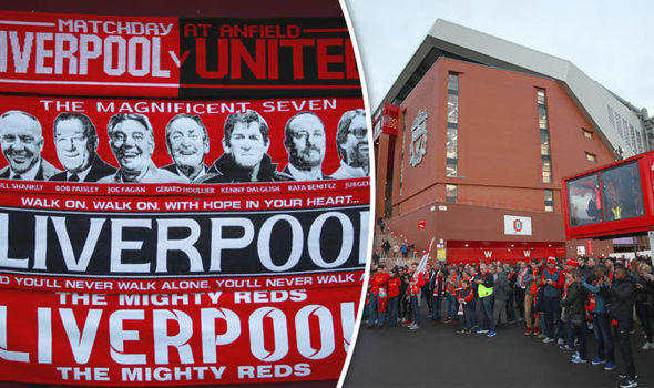 Picture Special: Anfield gears up for Liverpool's derby clash with Manchester United