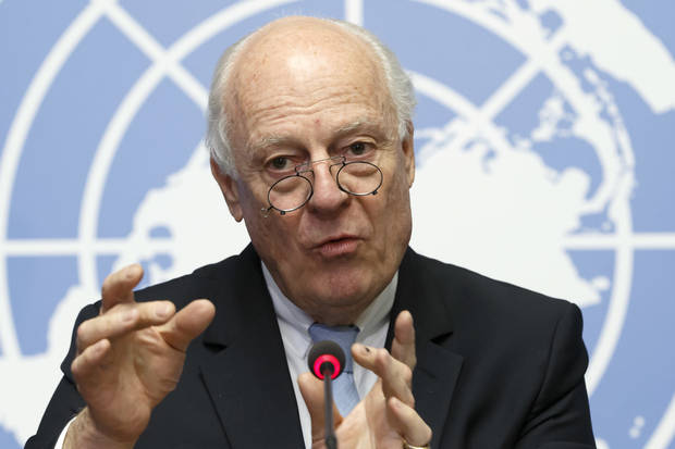 The Latest: UN envoy defends Syria talks after Assad remarks