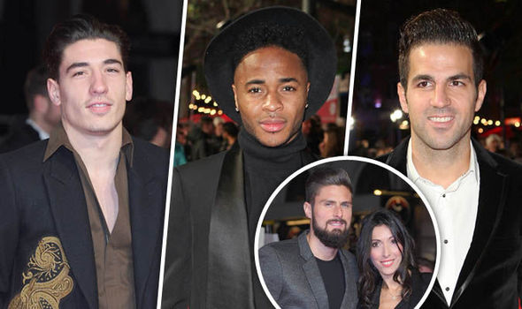 Olivier Giroud's stunning WAG joins Premier League stars at Usain Bolt's film premiere