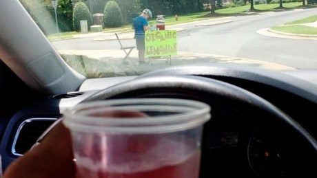 Juvenile arrested after boy running lemonade stand robbed at gunpoint
