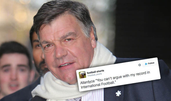 One of the greats! Sam Allardyce leaves role as England manager and Twitter can't cope