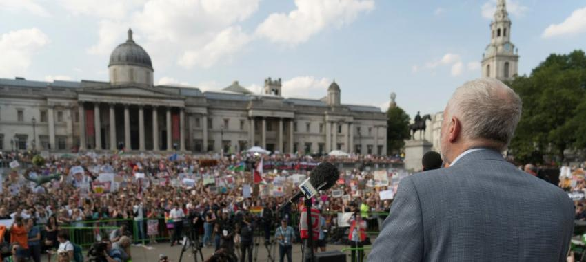 Jeremy Corbyn tells huge anti-Trump protest: 'We want a world not divided by misogyny, racism, and hate'