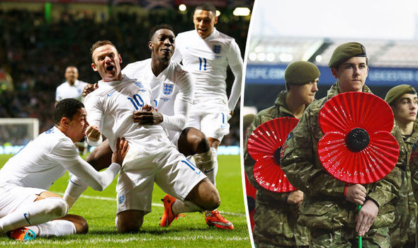 Fury as Fifa BANS England and Scotland from WEARING POPPIES during match on Armistice Day