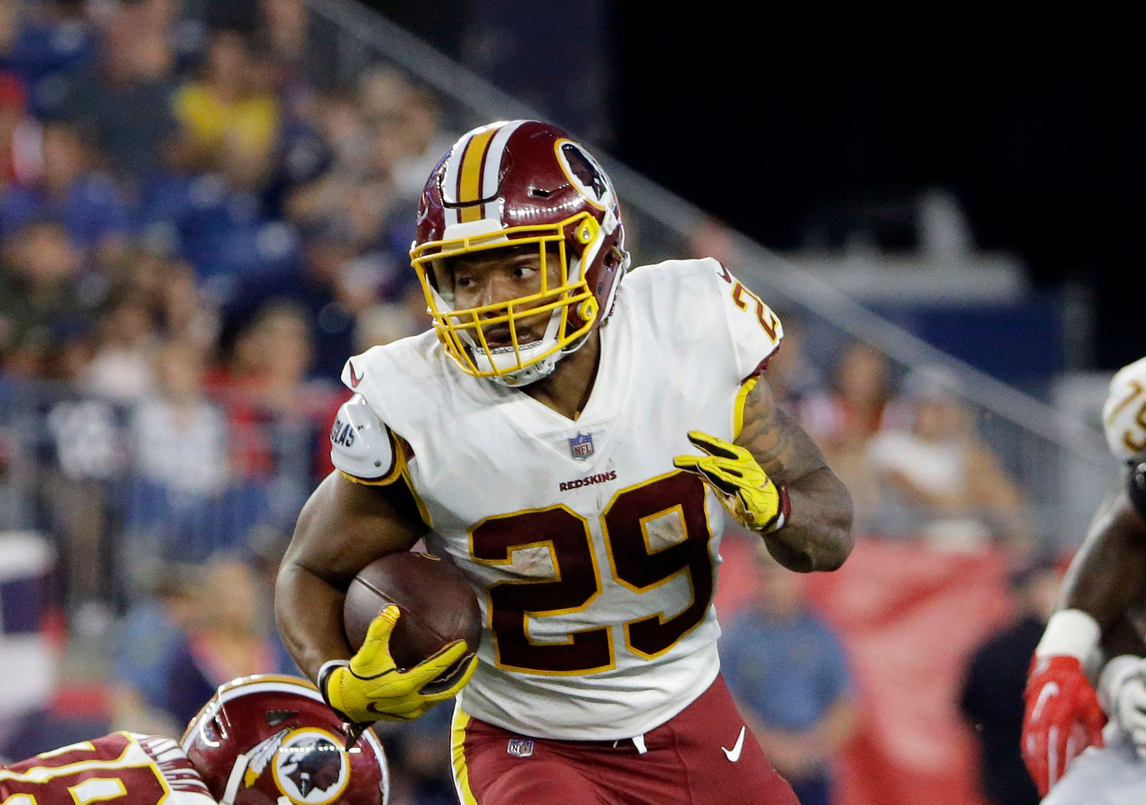 Redskins RBs post encouraging messages for Derrius Guice