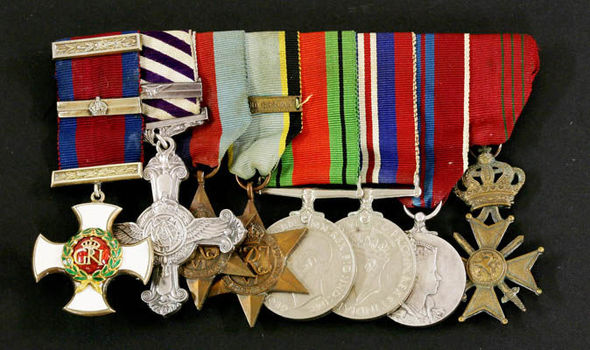 FOR SALE: Impressive medal collection of Second World War Spitfire ace