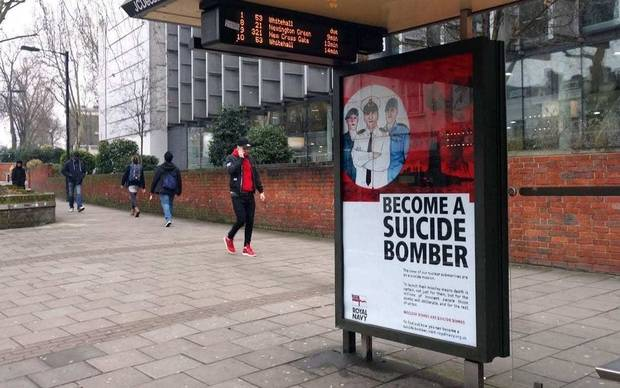 'Become a suicide bomber' posters appear across London