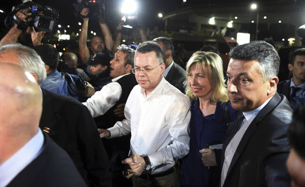 The Latest: American pastor leaves Turkey after court ruling