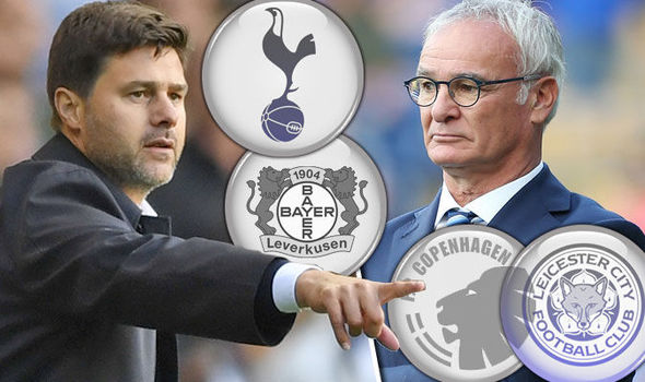 Champions League LIVE: Follow Tottenham and Leicester in European action