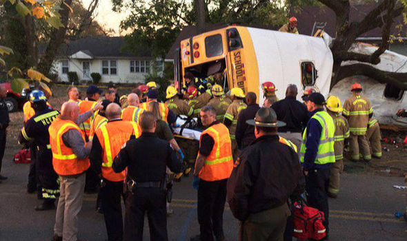 SCHOOL BUS HORROR: At least six children killed and dozens injured in tragic accident