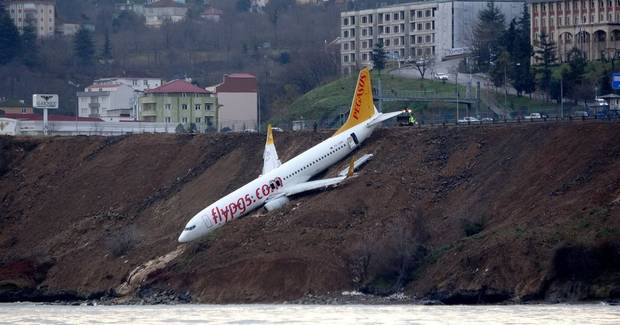 Plane skids off runway in Turkey: 'It's a miracle we escaped'