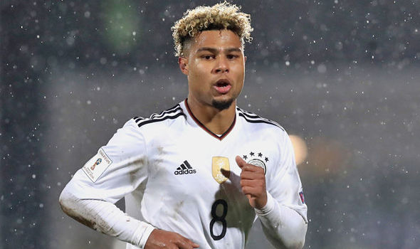 Serge Gnabry sends message to former club Arsenal after bagging hat-trick for Germany