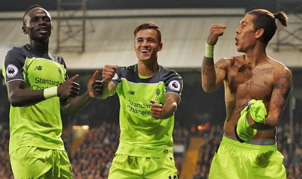 Crystal Palace 2-4 Liverpool: Reds go joint up after thrilling attacking display