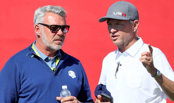 Ryder Cup 2016: Darren Clarke and Davis Love III in buoyant moods after day of two halves