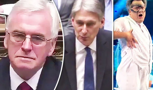John McDonnell's death stare as Hammond mocks him and Ed Balls over Strictly Come Dancing