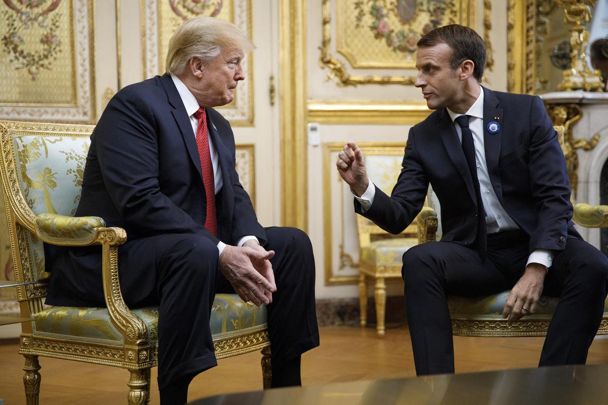 Trump and Macron meet in Paris before World War I commemoration ceremonies