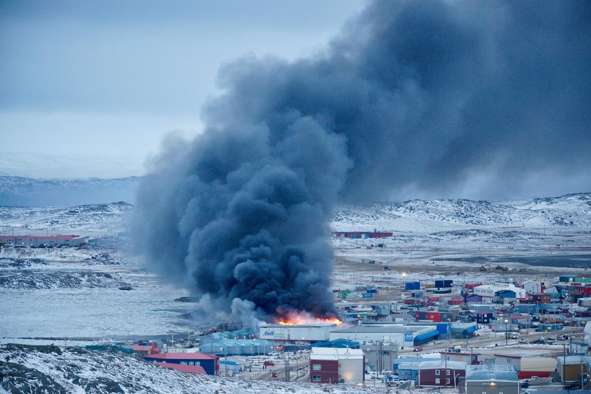 Two minors in custody after Nunavut grocery store fire
