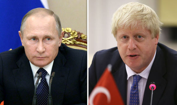 Moscow furious after Boris Johnson suggests Russia is guilty of WAR CRIMES over Syria role