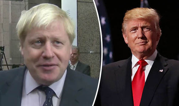'MOMENT OF OPPORTUNITY' Don't prejudge Trump, Boris Johnson blasts