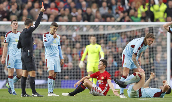 Manchester United ace Ander Herrera was unlucky - Burnley boss Sean Dyche
