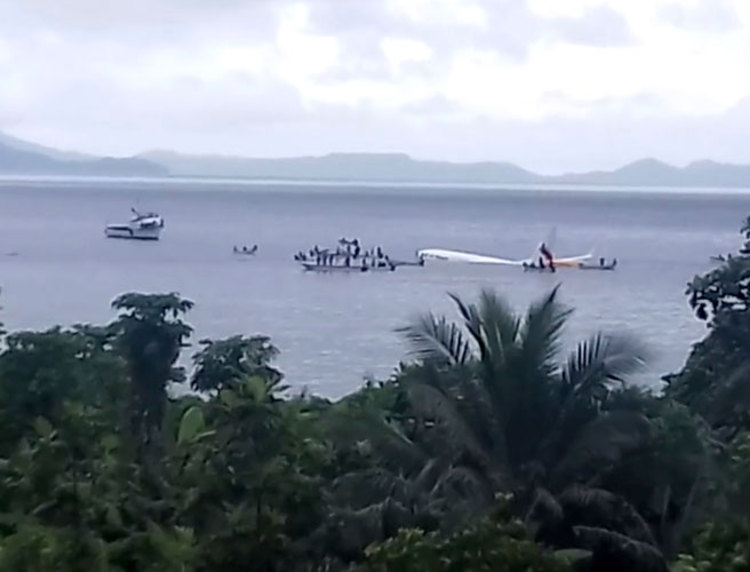 Passenger plane crashes off Pacific island after missing runway in Micronesia