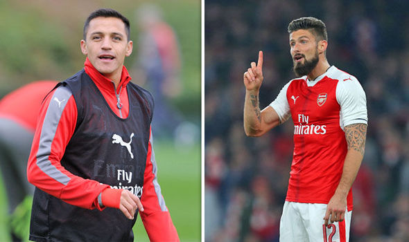 Arsene Wenger: What will happen to Alexis Sanchez when Olivier Giroud starts for Arsenal