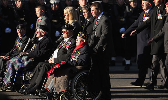 Veterans' families sidelined for Remembrance Sunday march as ACTORS' UNION gets to partake