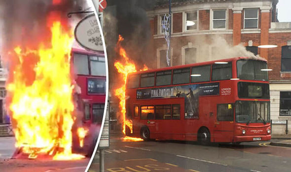 BREAKING: Bus explodes into flames in London high street