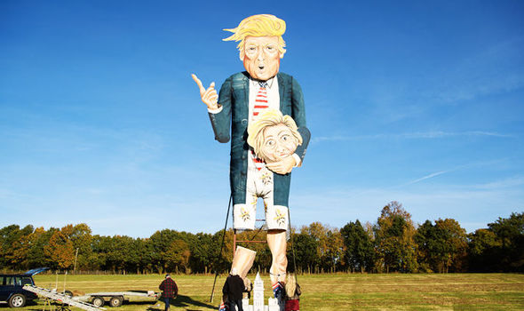 Britons plan to burn giant Donald Trump holding SEVERED HEAD of Clinton on Bonfire Night