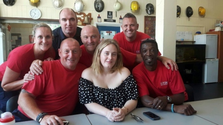 'She just turned up at the station:' Adele visits London Fire Brigade after Grenfell Tower fire