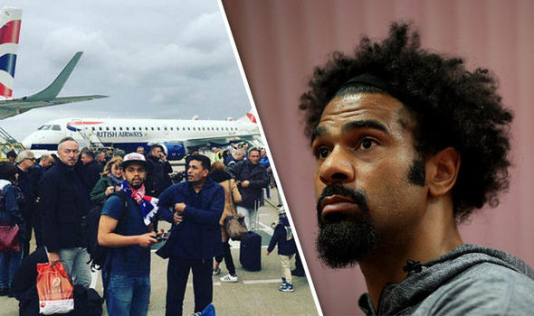 'Everyone started coughing uncontrollably' David Haye reveals London City Airport horror