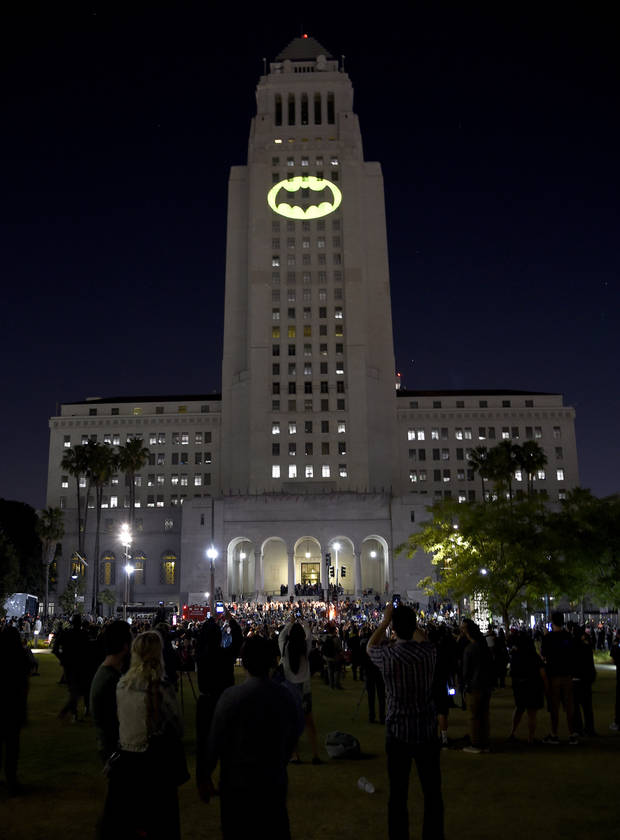 'Bat-Signal' Shines in L.A. to Honor the Late Batman Actor Adam West